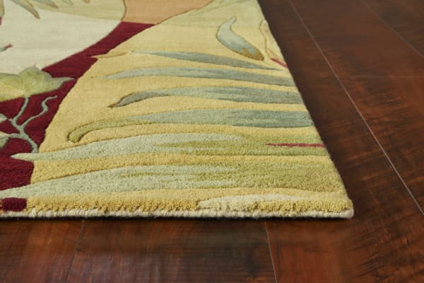 Wool Coral/Ivory Area Rug