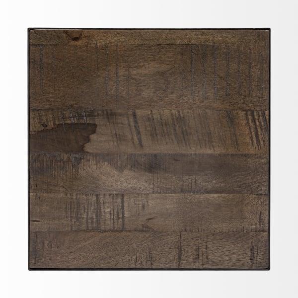 Trestman II Medium Brown Wood and Iron Cross Braced 24