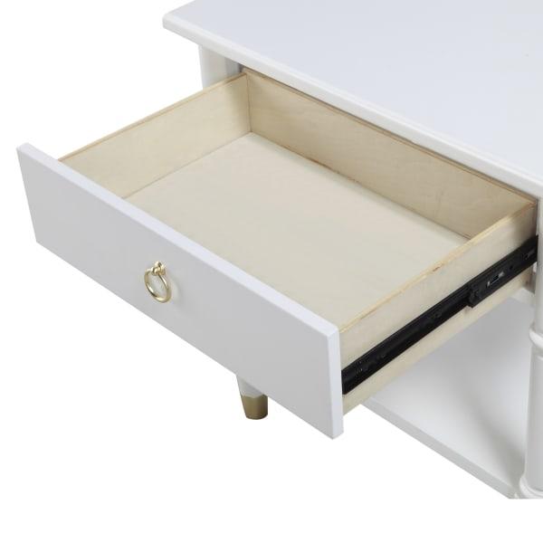 Jaden White One Drawer Nightstand