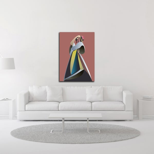 Off Chart 1 by Design Fabrikken Wrapped Canvas Wall Art