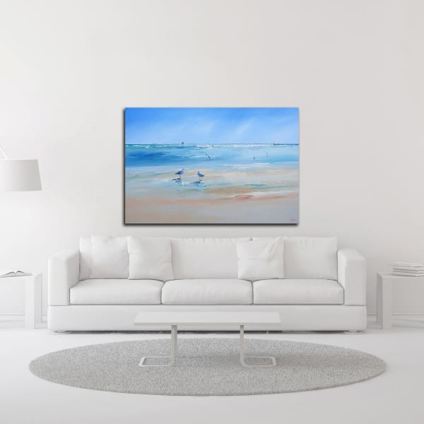 Late Gulls by Craig Trewin Penny Wrapped Canvas Wall Art