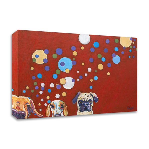 When Dogs Drink by Kathryn Wronski  Wrapped Canvas Wall Art