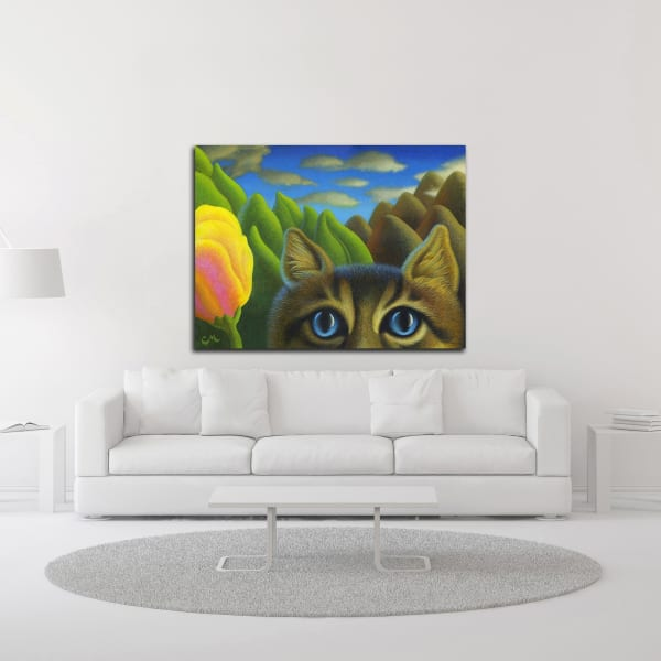 Watching by Chris Miles Canvas Wall Art
