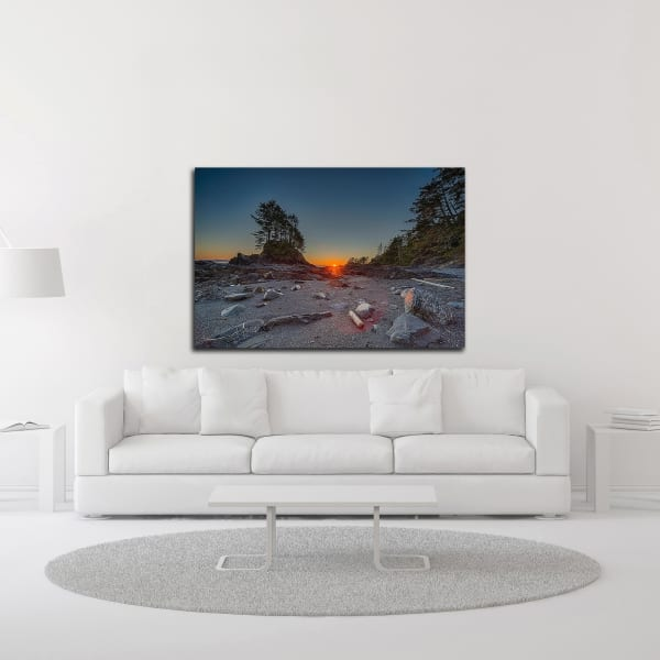 Westcoast Sunset by Tim Oldford Wrapped Canvas Wall Art