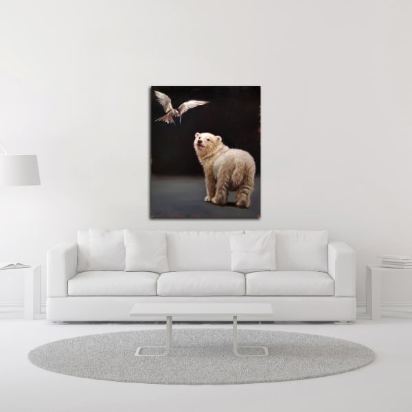 Making Friends by Lucia Heffernan Canvas Wall Art