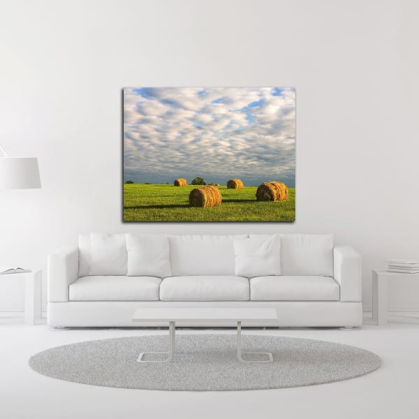 Approaching Storm - Haystacks by David Hammond Canvas Wall Art