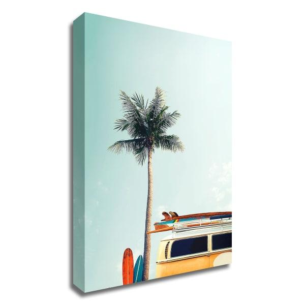 Surf Bus Yellow by Design Fabrikken Canvas Wall Art