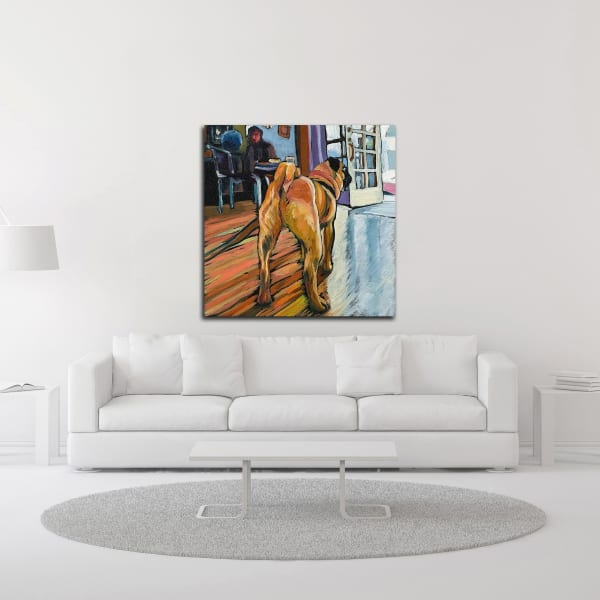 A Pug's View by Kathryn Wronski Canvas Wall Art
