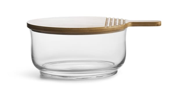 Nature Salad Bowl with Bamboo Lid/Cutting Board