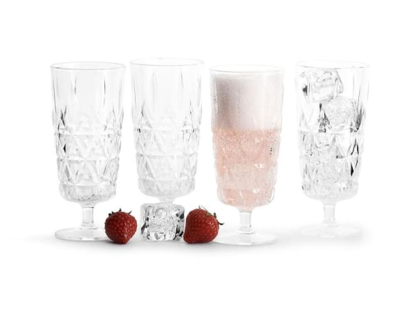 Outdoor Champagne Glasses -  4 pack