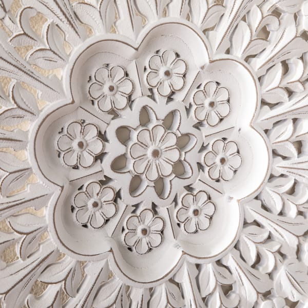 Gerard  Round Carved Wall Decor