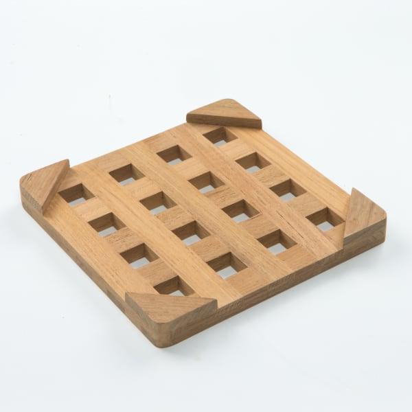 Small Square Teak Trivet