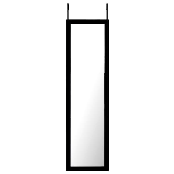 Long Black Over the Door Dressing Mirror