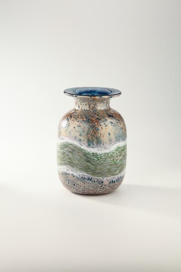 Decorative Green And Blue Vase