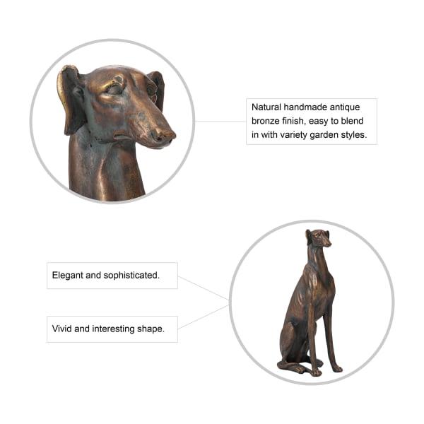 Sitting Greyhound Dog Statue