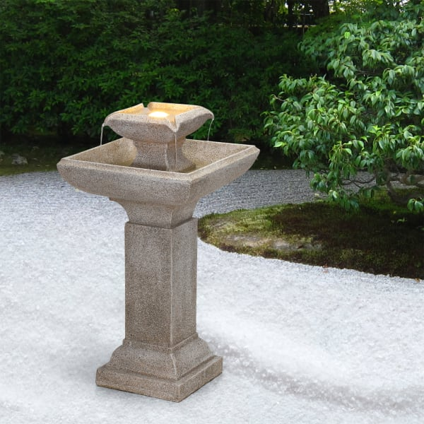 Tuscan Villa Outdoor Fountain with LED Light