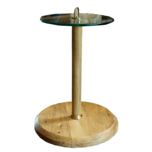 Posh Pollen Round Glass Top Table