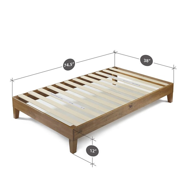 Posh Pollen Pine Twin Platform Bed