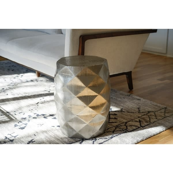 Posh Pollen Anna Round Silver Side Table