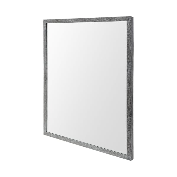Grey  Faux Wood Frame Vanity Mirror