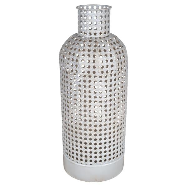 Cane Design Large Metal Vase