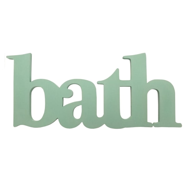 Seafoam Green Bath Word Wall Decor
