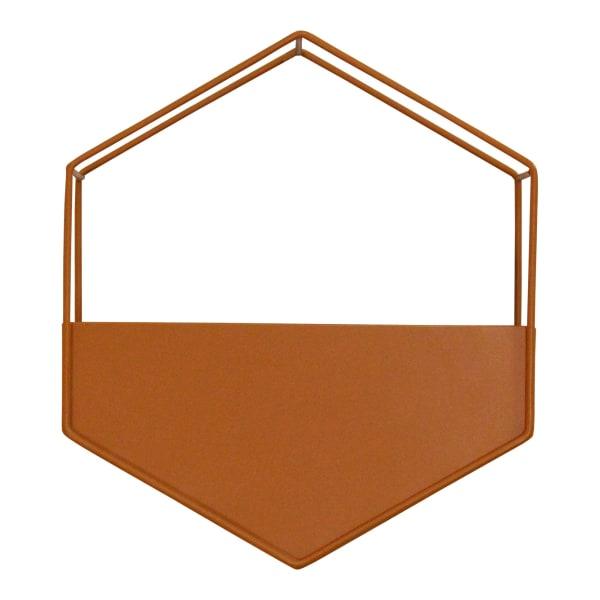 Orange Metal Wall Planter
