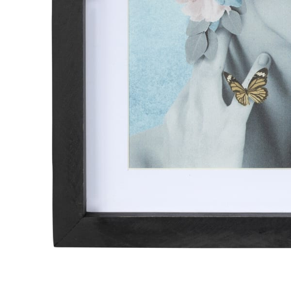 Butterflies and Floral Lady Framed Wall Art