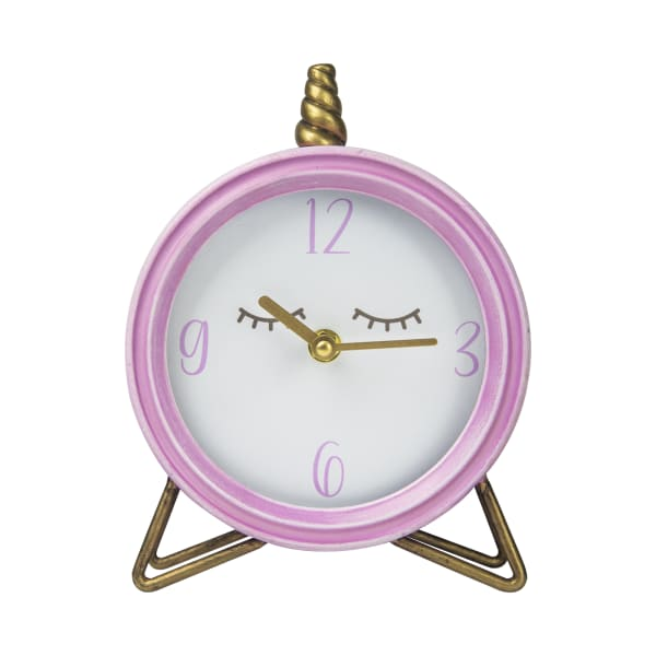 Round with Semi-Glossy Finish Table Top Clock