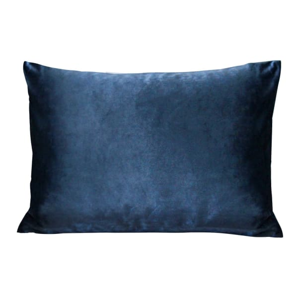 Royal Blue Velvet Lumbar Pillow