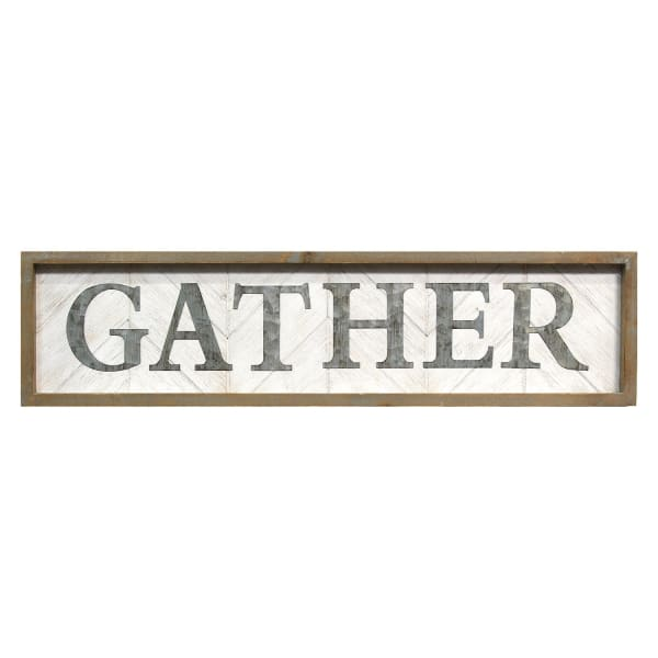 Framed Gather Metal and Wood Wall Art