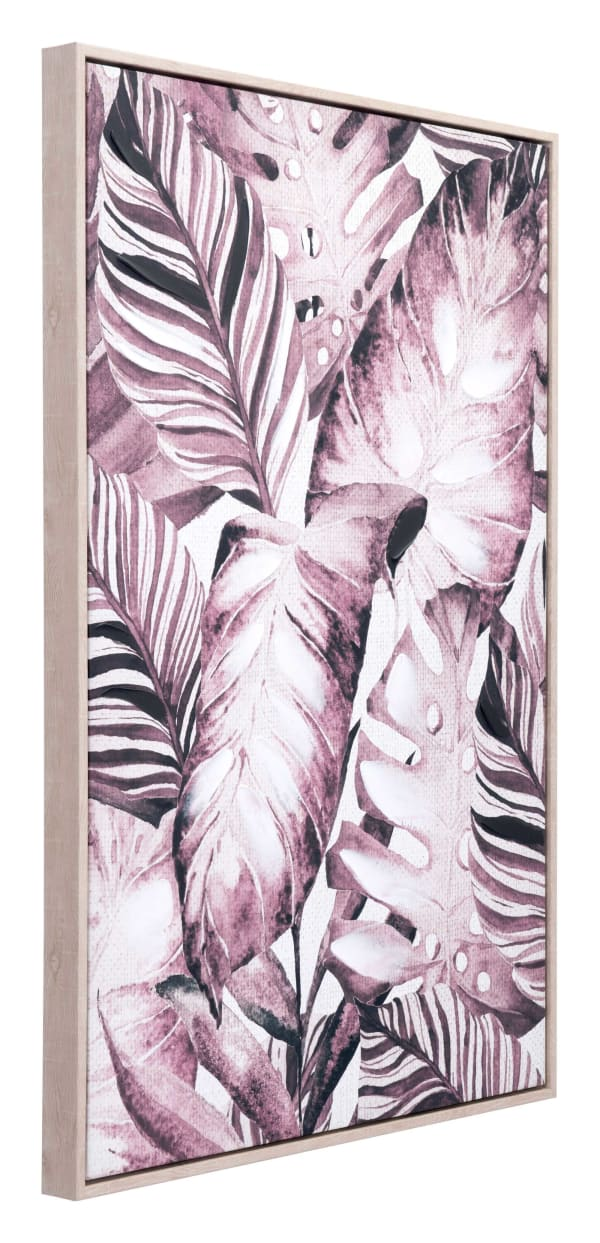 Modern Vintage Tropical Palms on Pinewood Canvas Wall Art