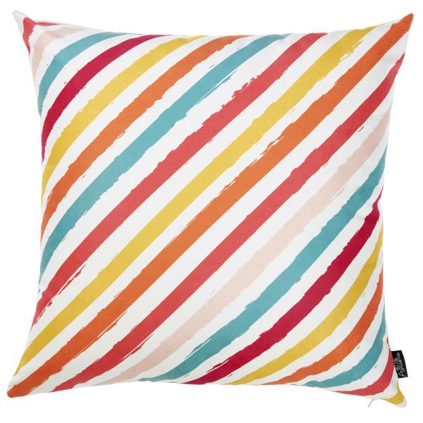 Beachy Slanted Stripe Decorative Throw Pillow Cover