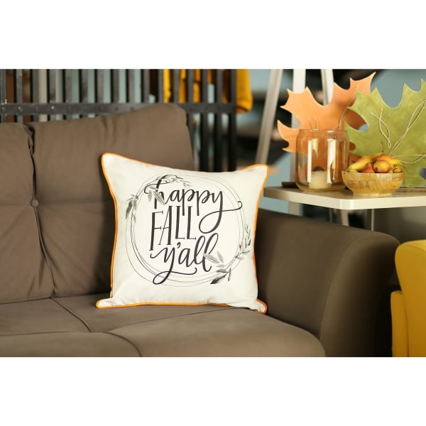 Thanksgiving Quote Set of 4  Multicolor Throw Pillow Covers