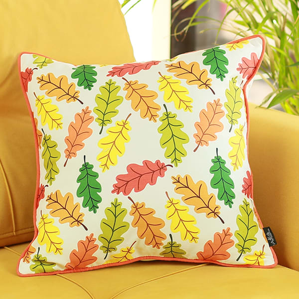 Autumn Leaves Multicolor Set of 2 Throw Pillow Covers