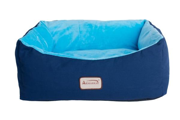 Navy Blue/Sky Blue Small Pet Cat Bed