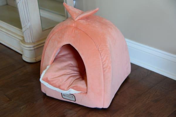 Orange and Ivory Cat Bed