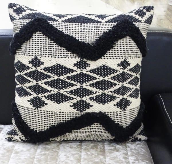 Tufted Chevron Decorative Pillow