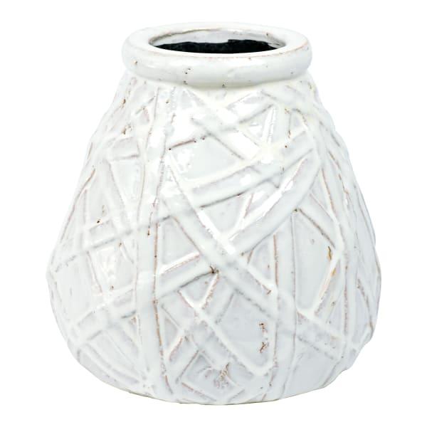 Antique Finish Ceramic Vase