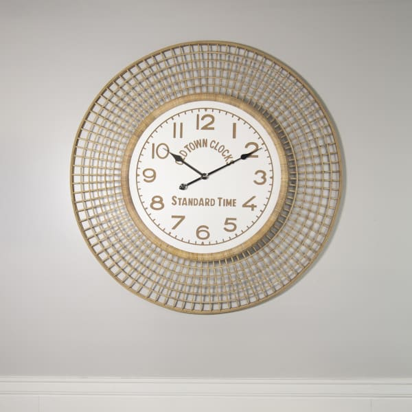 Natural Finish Bamboo Clock