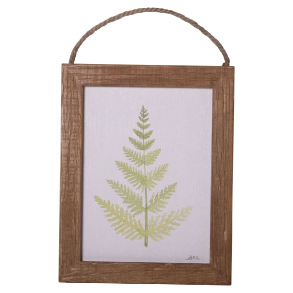 Natural Wood Frame Textured Canvas with Jute Hanger Wall Art