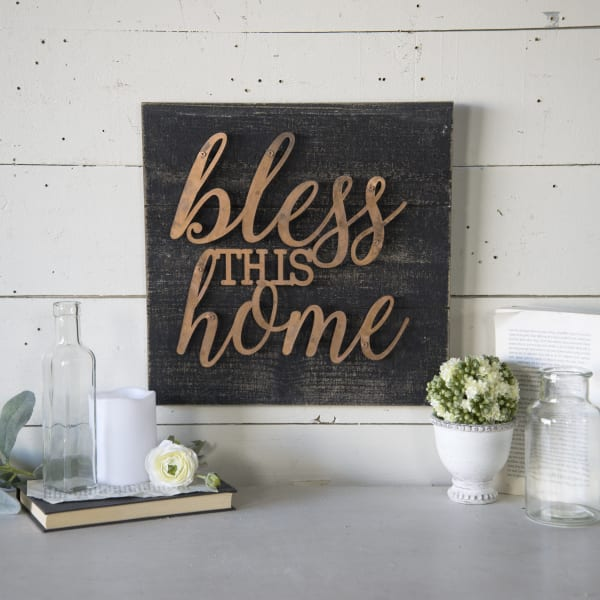 Bless Wall Sign