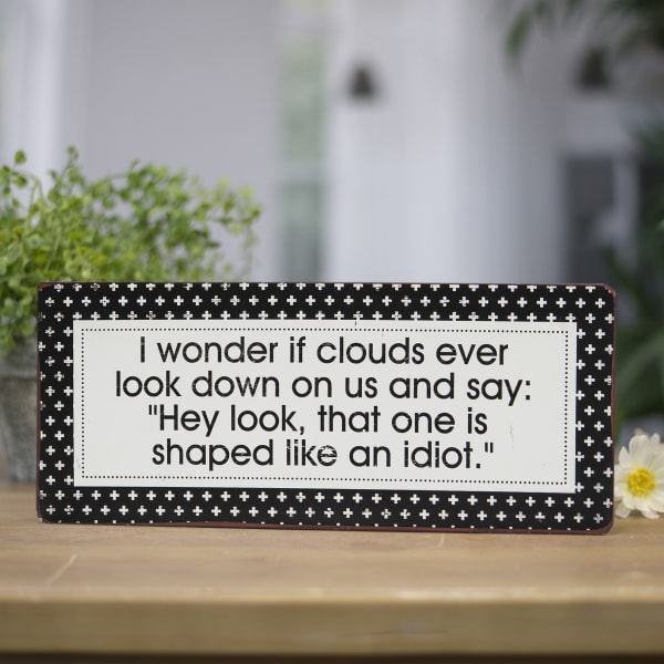Clouds Wall Sign