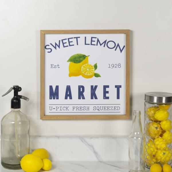 Lemon Market Wall Sign