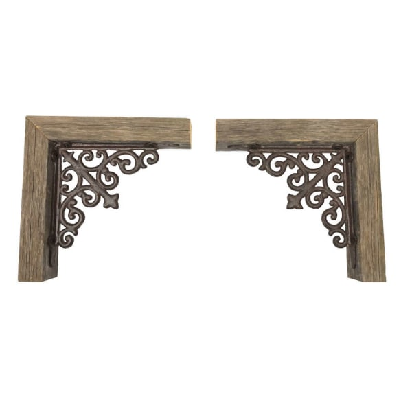 Weathered Gray Set of 2 Corbel Book Ends