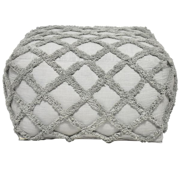 Amara Gray Cotton Pouf