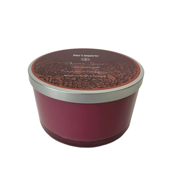 Pier 1 Asian Spice® Filled 3-Wick Candle 14oz