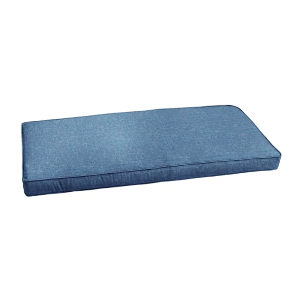 Corded Blue Bench Cushion