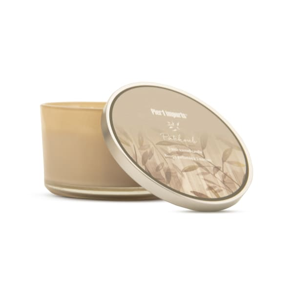 Pier 1 Patchouli Filled 3-Wick Candle 14oz