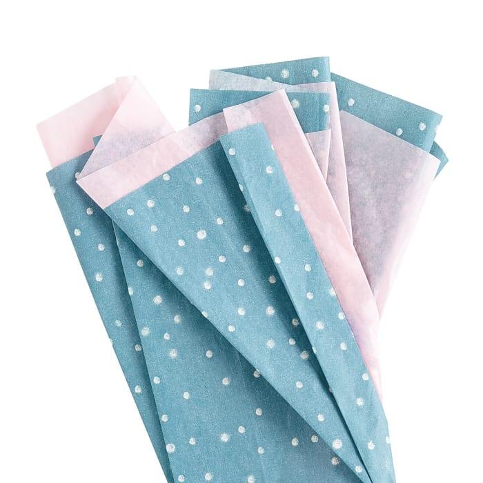 Blush & Teal Dot Tissue Paper